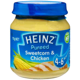 Photo of Heinz Purees Sweetcorn & Chicken 4 To 6 Months 110g