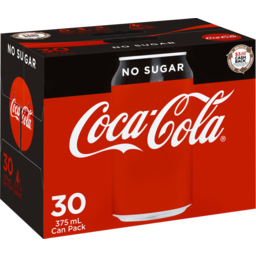 Photo of Coca-Cola No Sugar Soft Drink Multipack Cans 30x375ml