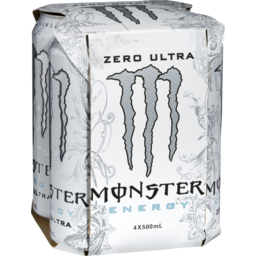Photo of Monster Energy Zero Ultra 4x500ml