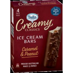 Photo of Bulla Creamy Classics Caramel & Peanut Ice Cream Bars 4pk