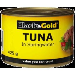 Photo of Black & Gold Tuna In Springwater 425g