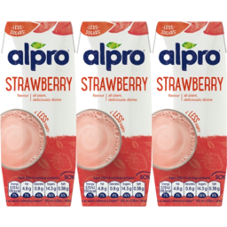 Photo of Alpro Strawberry Soy Milk 3x250ml