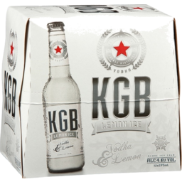 Photo of KGB Lemon 5% Bottles