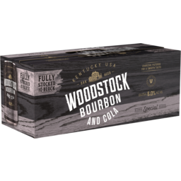 Photo of Woodstock Bourbon & Cola 6% 375ml 10 Pack