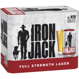 Photo of Iron Jack Full Strength Can 375ml 30 Pack