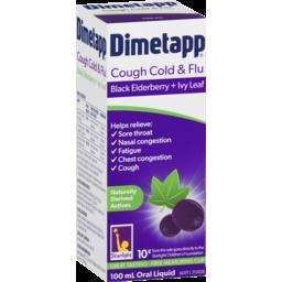 Photo of Dimetapp Cough Cold & Flu Black Elderberry + Ivy Leaf 100ml