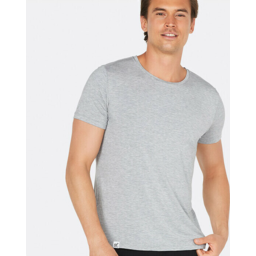 Photo of BOODY BAMBOO Mens Crew Neck Shirt Light Marl XL