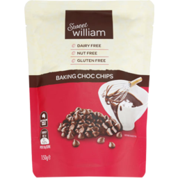 Photo of Sweet William Gluten Free & Dairy Free Chocolate Chips 150g
