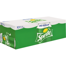 Photo of Sprite No Sugar Lemonade Soft Drink Multipack Cans 10x375ml