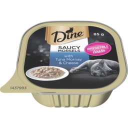 Photo of Dine Cat Food Tuna Mornay Topped With Cheese 85g