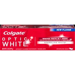 Photo of Colgate Optic White Anticavity Fluoride Toothpaste Sparkling White