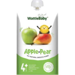 Photo of Wattle Natural Baby Food Apple And Pear 120gm