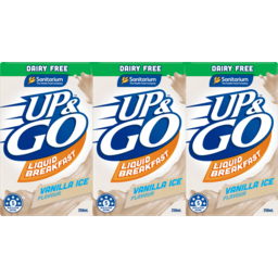 Photo of Sanitarium Up & Go Vanilla Ice Dairy Free Flavour Liquid Breakfast 3x250ml