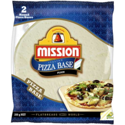 Photo of Mission Round Pizza Base Plain 2pk 200gm