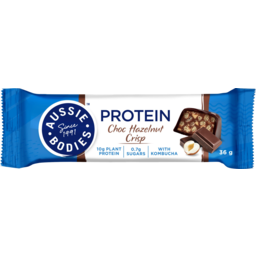 Photo of Aussie Bodies Choc Hazelnut Crisp With Kombucha Protein Bar 36g