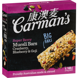 Photo of Carman's Super Berry Muesli Bars 6x45g
