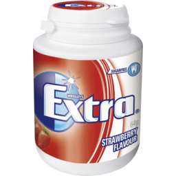 Photo of Extra Strawberry Chewing Gum Sugar Free Bottle 46 Piece 64g