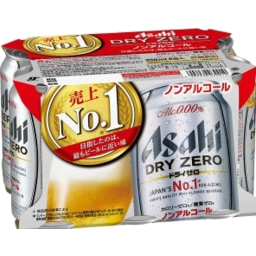 Photo of Asahi Beer Dry Zero 350ml 6pk