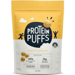 Photo of Protein Puffs Mighty Cheddar 43g