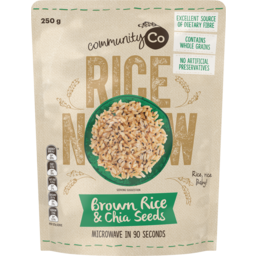Photo of Community Co Brown Rice & Chia Seeds Microwavable Rice 250g