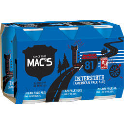 Photo of Mac's Interstate Beer American Pale Ale 6 X 330ml