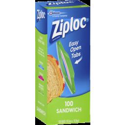 Photo of Ziploc® Easy Open Tabs Sandwich Bags 100 Pack