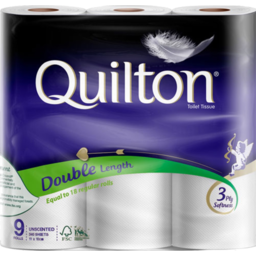Photo of Quilton Toilet Paper 3 Ply Double Length White 9 Pack