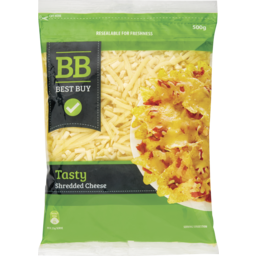 Photo of BEST BUY TASTY SHREDDED CHEESE 500G