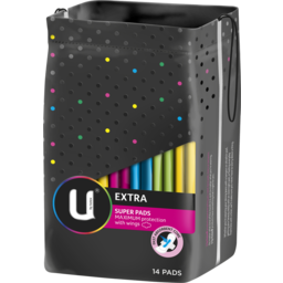 Photo of U By Kotex Pads Super Extra Wings 14s