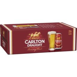 Photo of Carlton Draught 24 X 375ml Cans