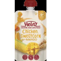 Photo of Heinz® Chicken, Sweetcorn & Mango Baby Food Pouch 6+ Months 120g