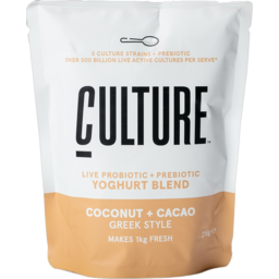 Photo of Culture Coconut & Cacao Greek Style Yoghurt Mix 215g