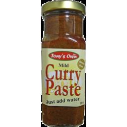 Photo of Tonys Own Curry Paste Mild 250g