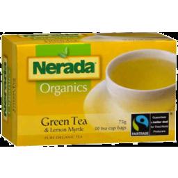 Photo of Nerada Organics Green Tea & Lemon Myrtle Pure Organic Tea 50pk 75gm