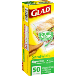 Photo of Glad Zipper Bags Sandwich - 50 Ct