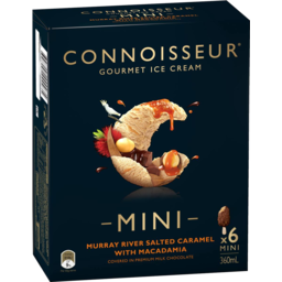 Photo of Connoisseur Murray River Salted Caramel With Macadamia Mini 6pk
