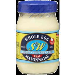Photo of S&W Whole Egg Light Mayonnaise 440g