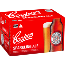 Photo of Coopers Sparkling Ale Bottles 375ml X 4 X 6 Pack Carton