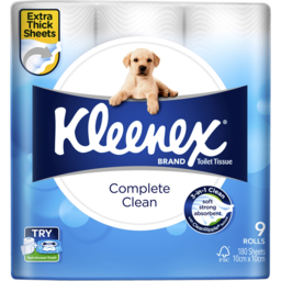 Photo of Kleenex Complete Clean White Toilet Tissue 9 Pack