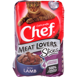 Photo of Chef Cat Food Pouch Lamb In Gravy 4 Pack