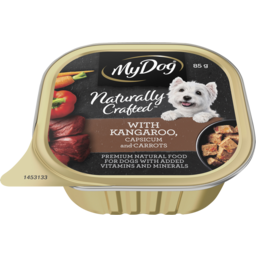 Photo of My Dog Naturally Crafted Wet Dog Food Kangaroo, Capsicum And Carrots 85g Tray