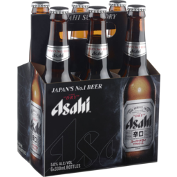 Photo of Asahi Beer Super Dry Bottles 6 Pack