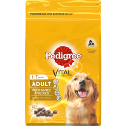 Photo of Pedigree Dog Food Dry Adult Complete Nutrition With Real Mince & Vegies 3kg