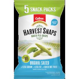 Photo of Harvest Snaps Original Salted Baked Pea Crisps Multi-Pack 5x18g 90g