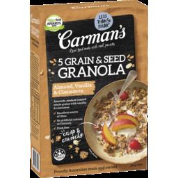 Photo of Carman's Almond, Vanilla & Cinnamon 5 Grain & Seed Granola 450g