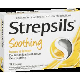 Photo of Strepsils Honey & Lemon Lozenges 16 Pack