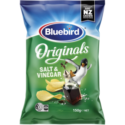 Photo of Bluebird Originals Potato Chips Salt & Vinegar 150g
