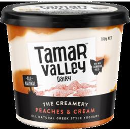 Photo of Tamar Valley The Creamery Peaches & Cream Greek Style Yoghurt 700g