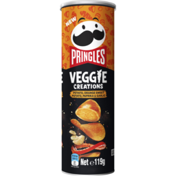Photo of Pringles Veggie Creations Potato, Orange Sweet Potato, Paprika & Garlic 119g