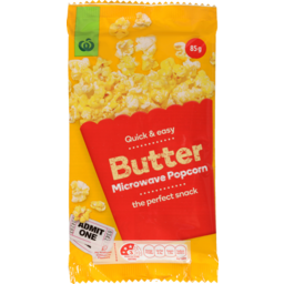 Photo of WW Microwave Popcorn Bag Butter 85g
